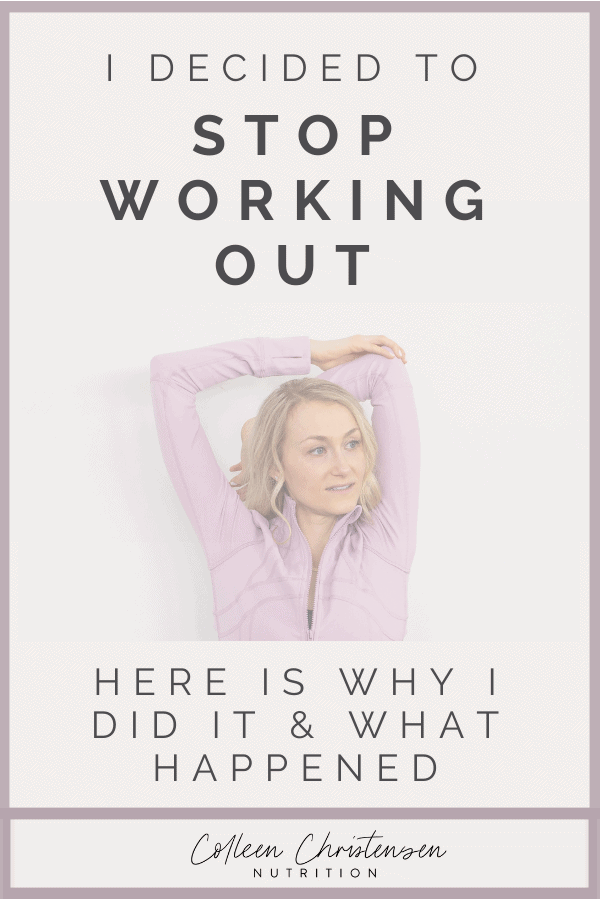 Stop working out every day. I decided to stop my workout of the day and here is what happened