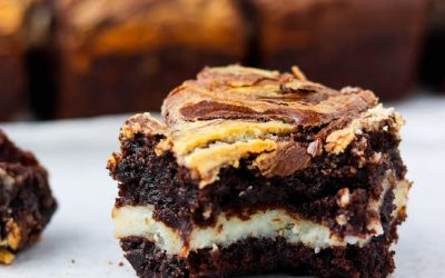Bourbon Cream Cheese Brownies
