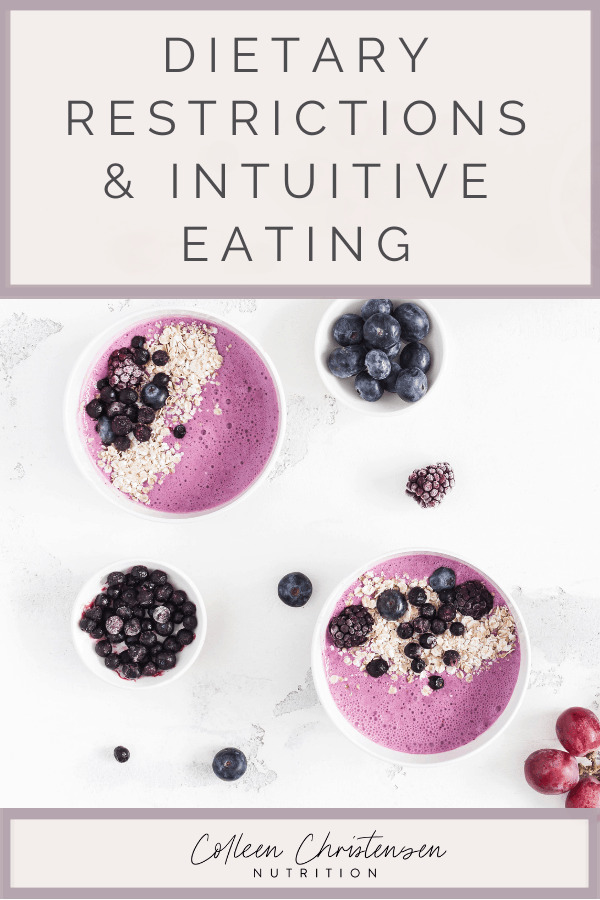 dietary restrictions and intuitive eating