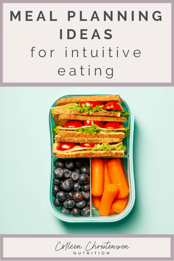 how to meal plan for intuitive eating