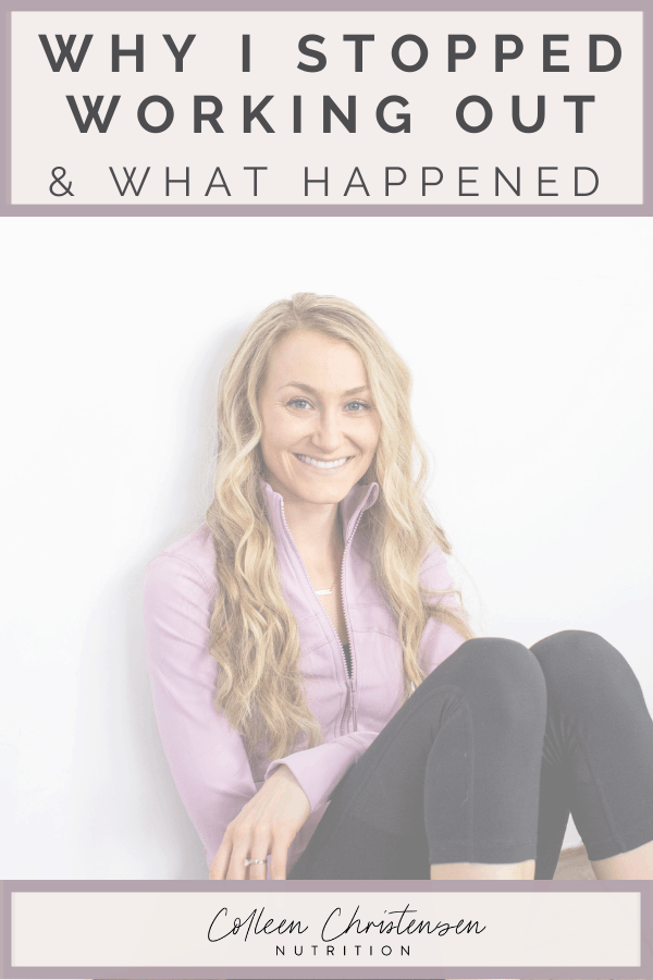 Why I stopped working out every day & what happened