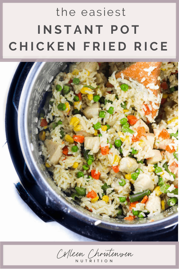 instant pot chicken fried rice