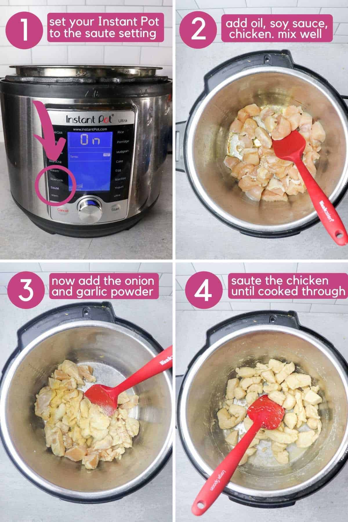 how to make Instant Pot chicken fried rice.