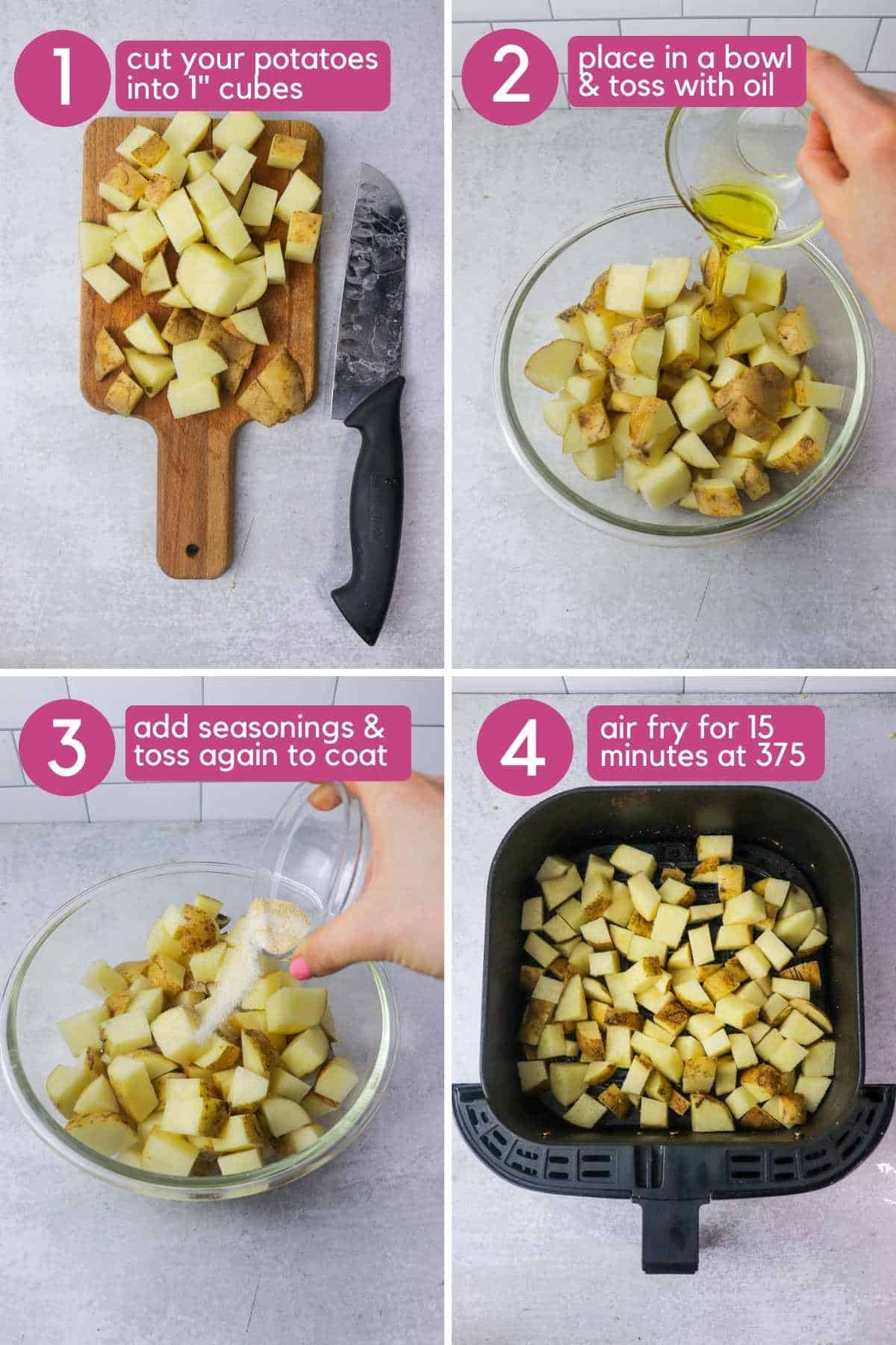 how to make air fryer potatoes.