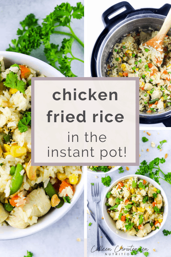 easy instant pot chicken fried rice