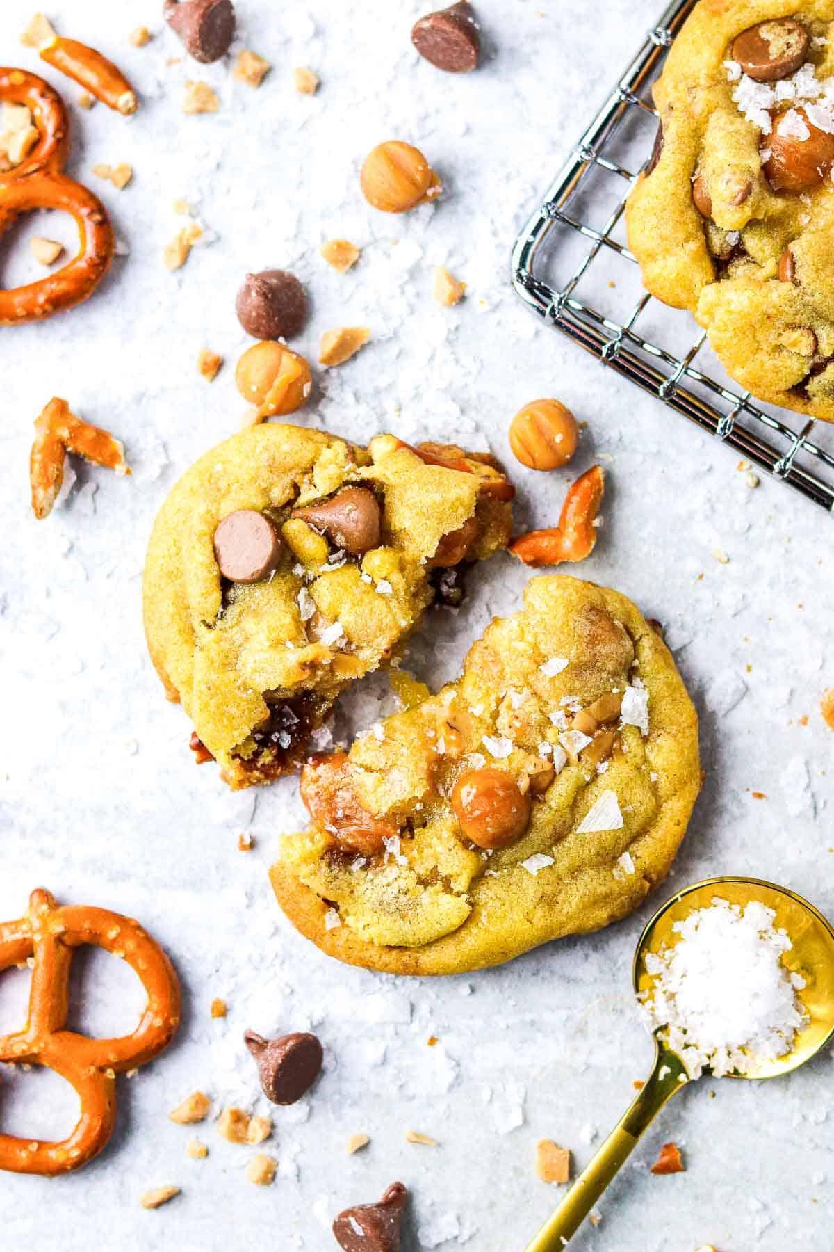 Panera Kitchen Sink Cookie On The Counter Broken In Half
