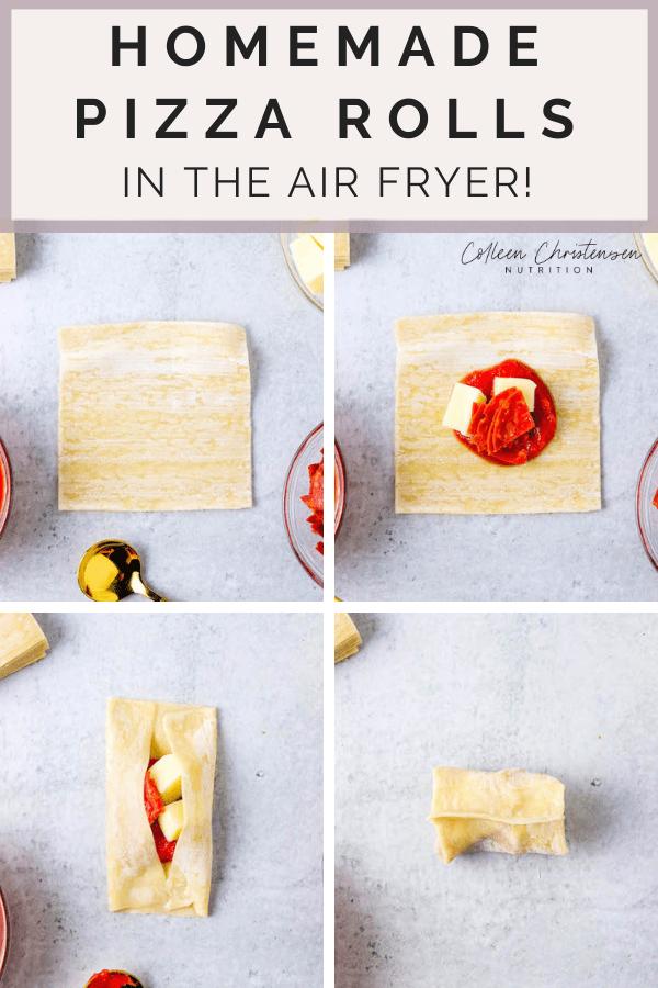 easy air fryer pizza rolls