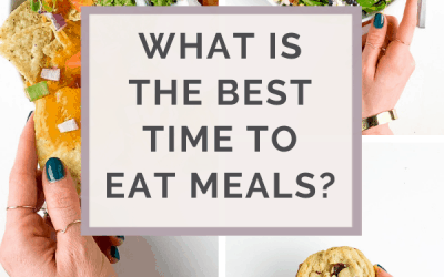 what is the best time to eat meals