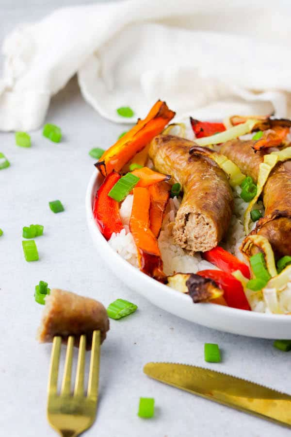 Air Fryer Sausage & peppers