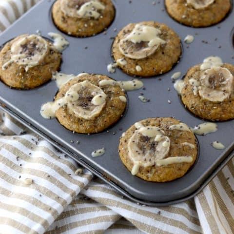 Chia Tahini Banana Mini Muffins