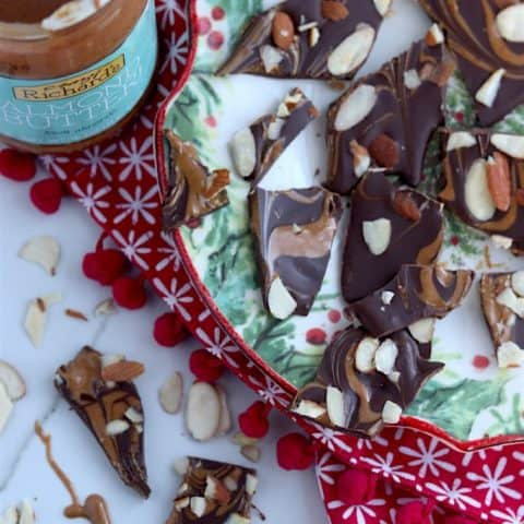 Dark Chocolate Almond Butter Bark