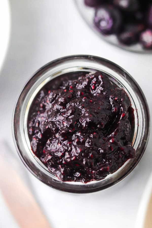 no added sugar blueberry jam