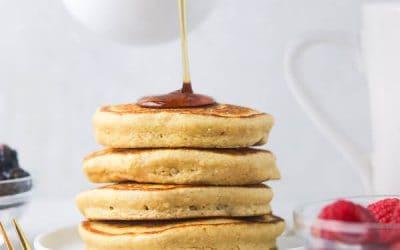 Blender Oat Flour Pancakes