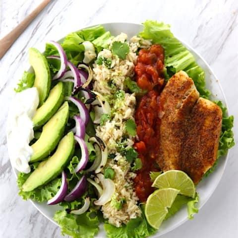 Southwest Grilled Tilapia Salads