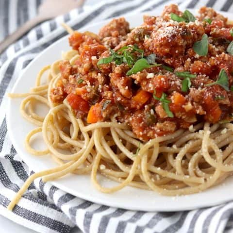 Simple & Quick Turkey Bolognese
