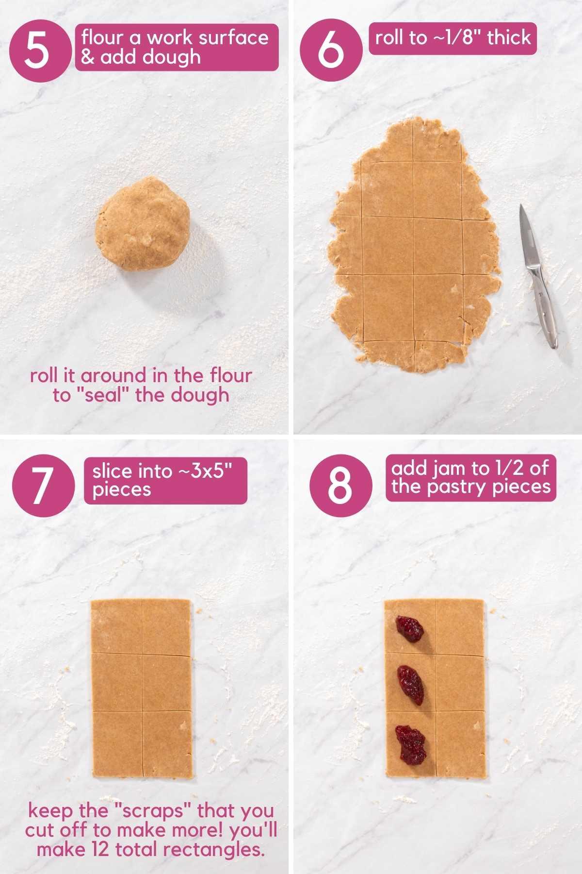 How To Cut and shape Vegan Pop Tart.