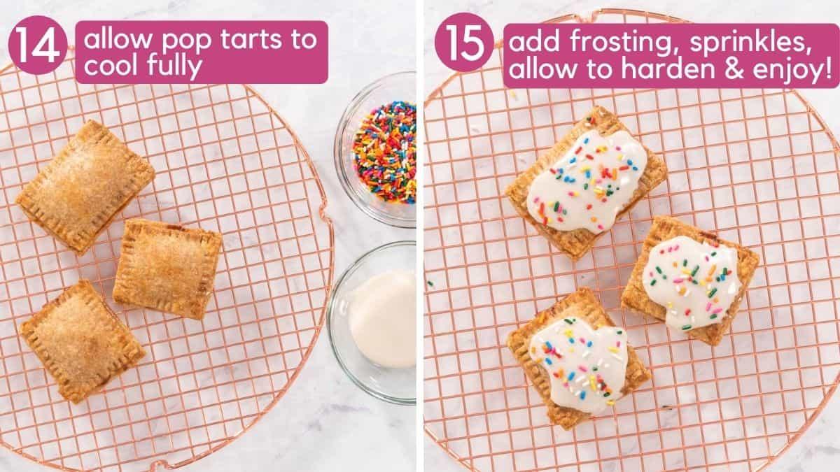 How to frost vegan pop tarts.