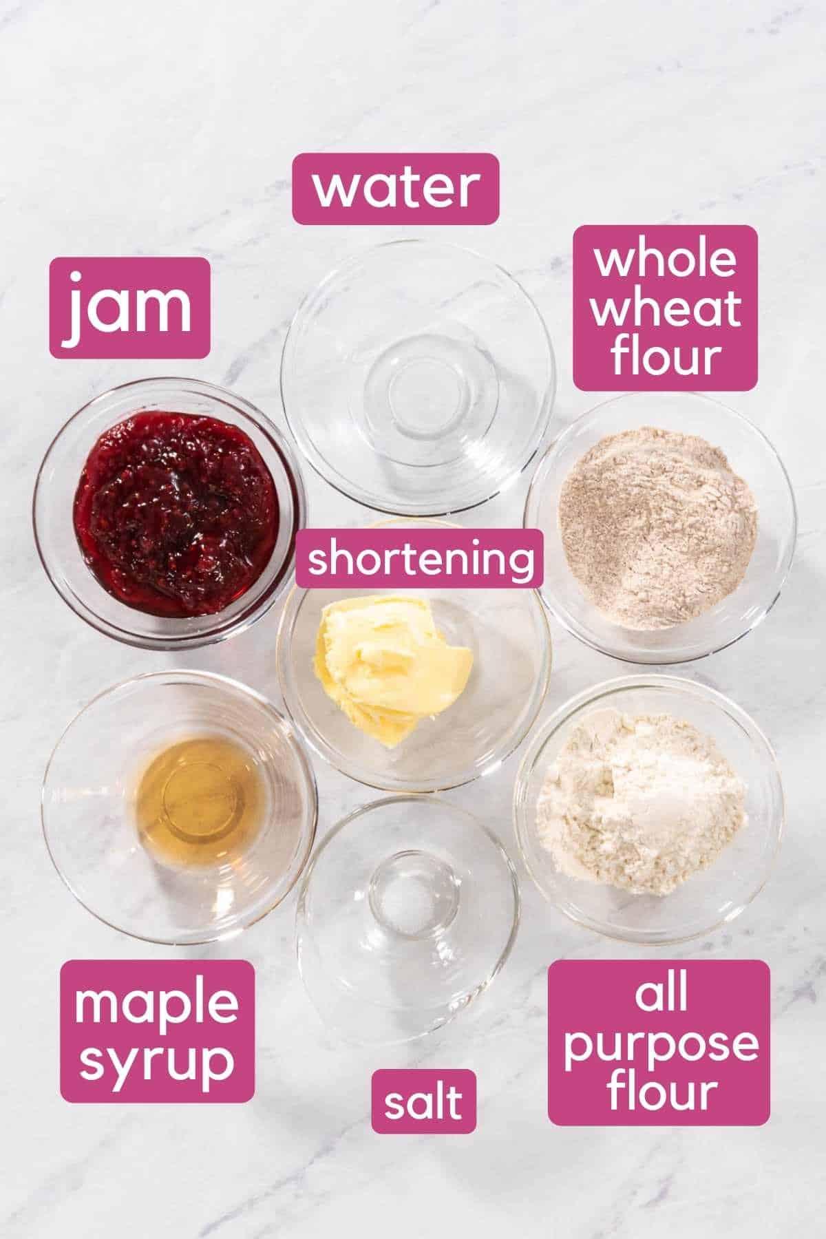 Vegan Pop Tart Ingredients.