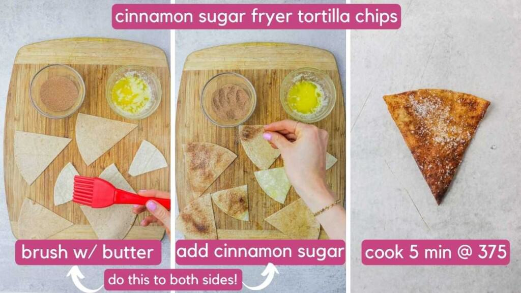 cinnamon sugar air fryer tortilla chips.