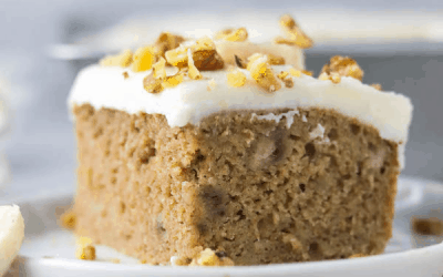 greek yogurt banana slice cake