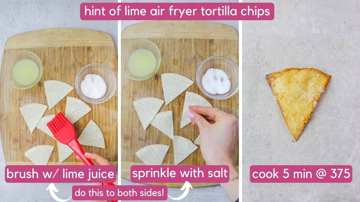 hint of lime air fryer tortilla chips