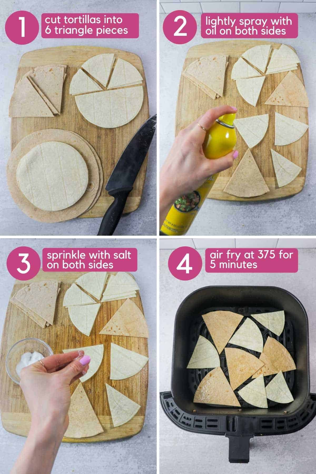 how to make air fryer tortilla chips