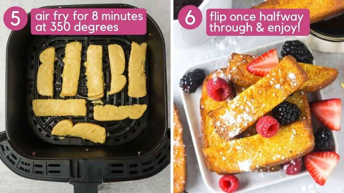 How to cook air fryer french toast sticks.