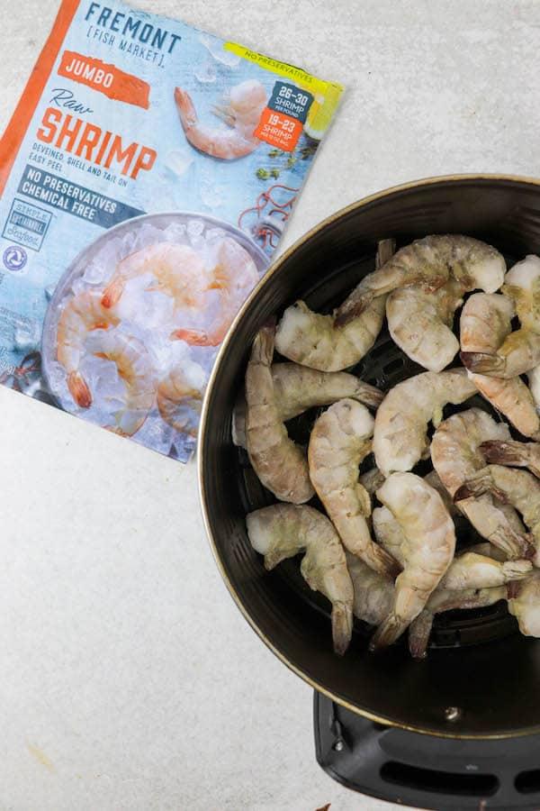 raw air fryer frozen shrimp