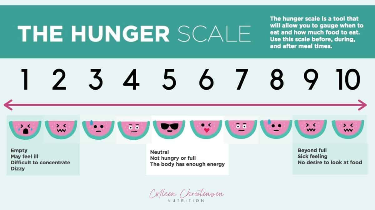 Intuitive Eating Hunger Fullness Scale Overview.