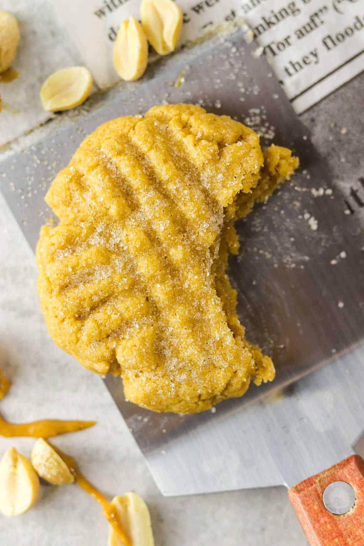bitten small batch peanut butter cookie.