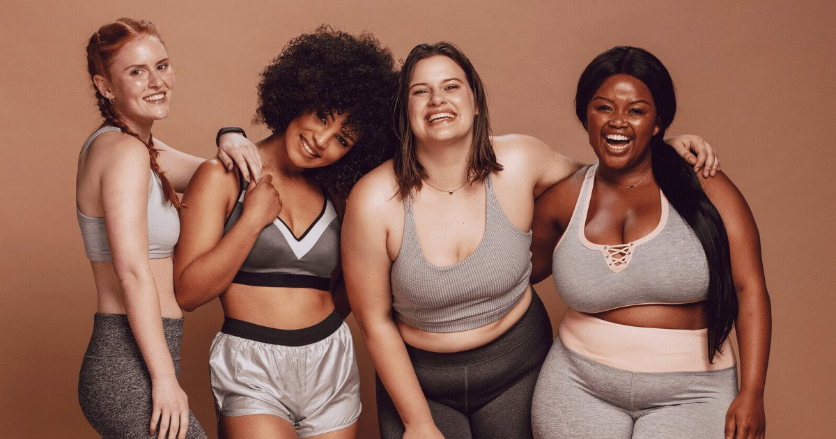 women of different shapes, sizes and colors.