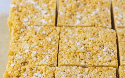 salted peanut butter rice krispie bars