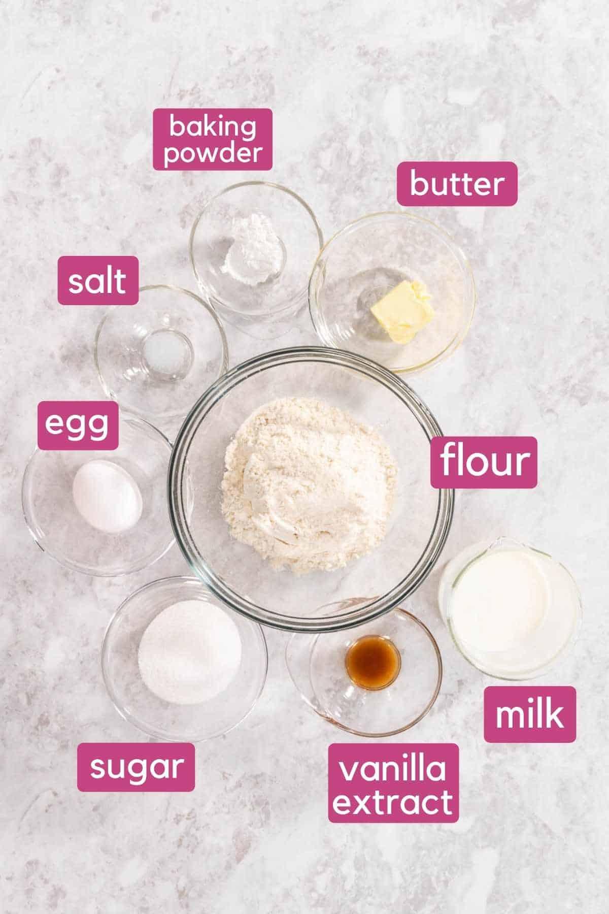 Air Fryer Muffins Ingredients.