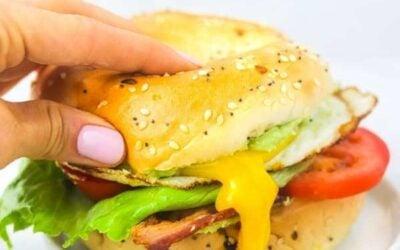 Ultimate BLT bagel sandwich