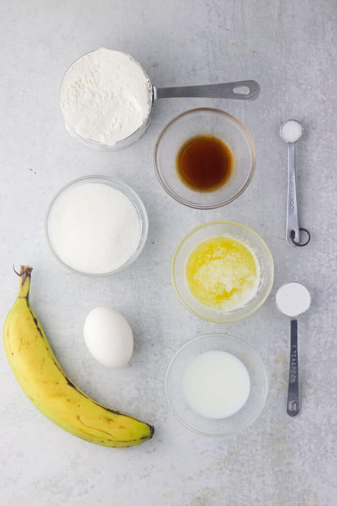 baked banana donuts ingredients