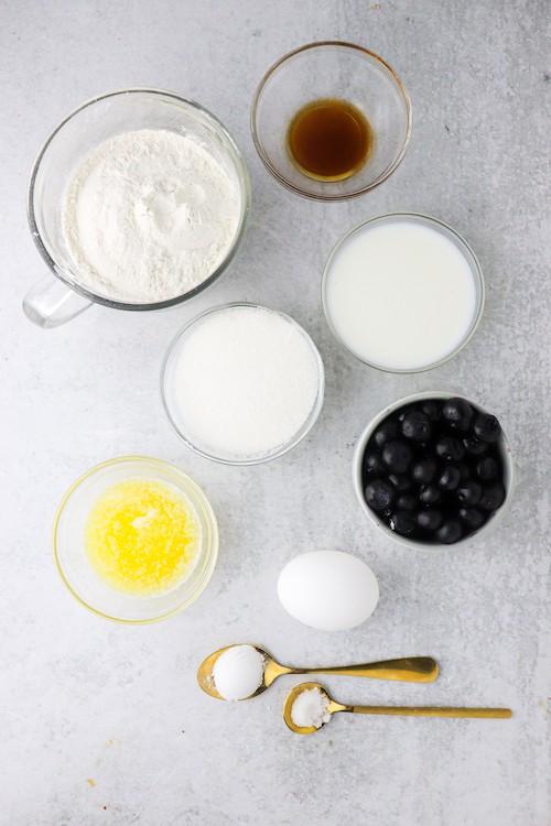 Blueberry Cake Donut ingredients