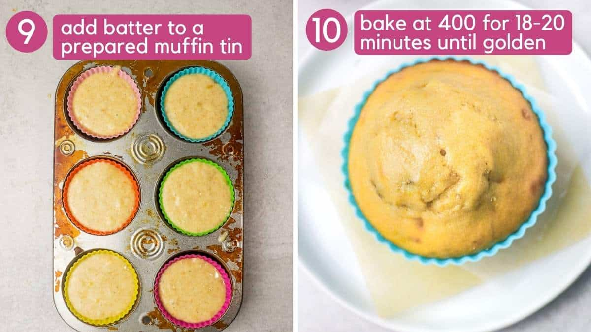 How to bake banana protein muffins..