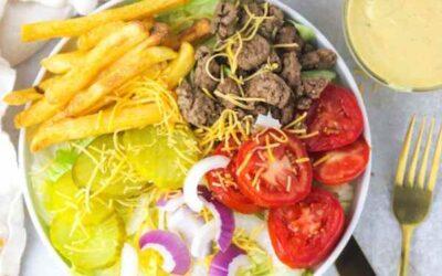Big Mac In A Bowl Hamburger Salad