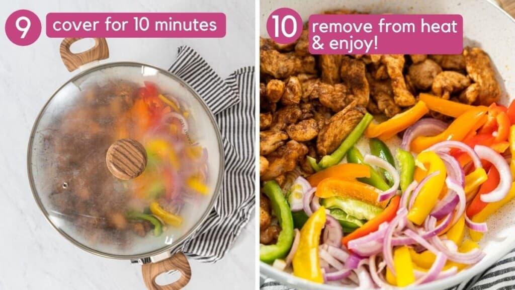 how to cook chicken fajita tacos with veggies.