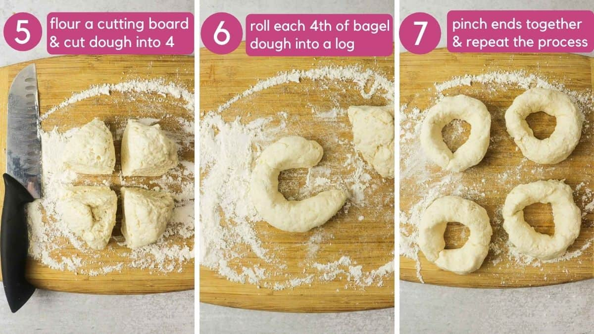 how to form a 3 ingredient bagel