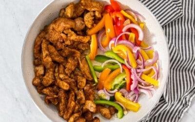 only 20 minute chicken fajita tacos.
