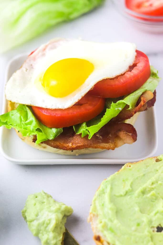 BLT bagel sandwich