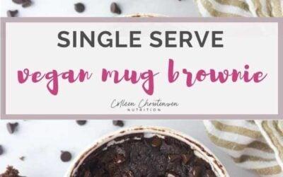 single serve vegan mug brownie