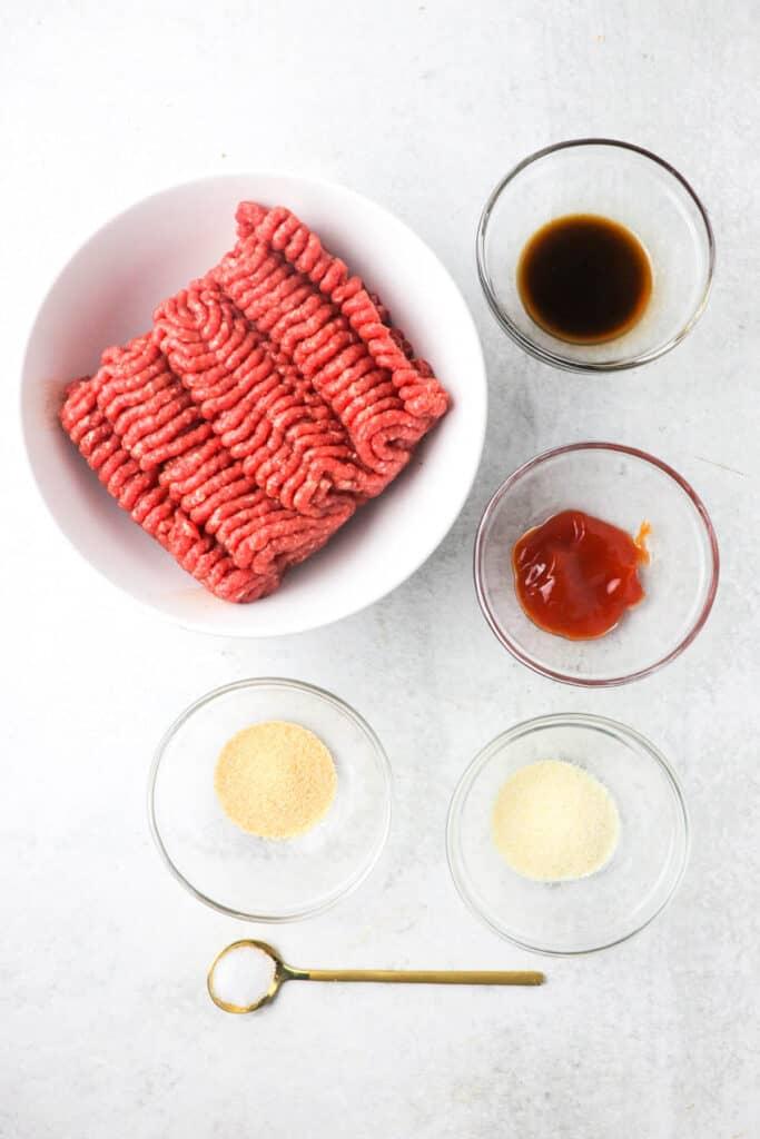 juicy air fryer burger patty ingredients