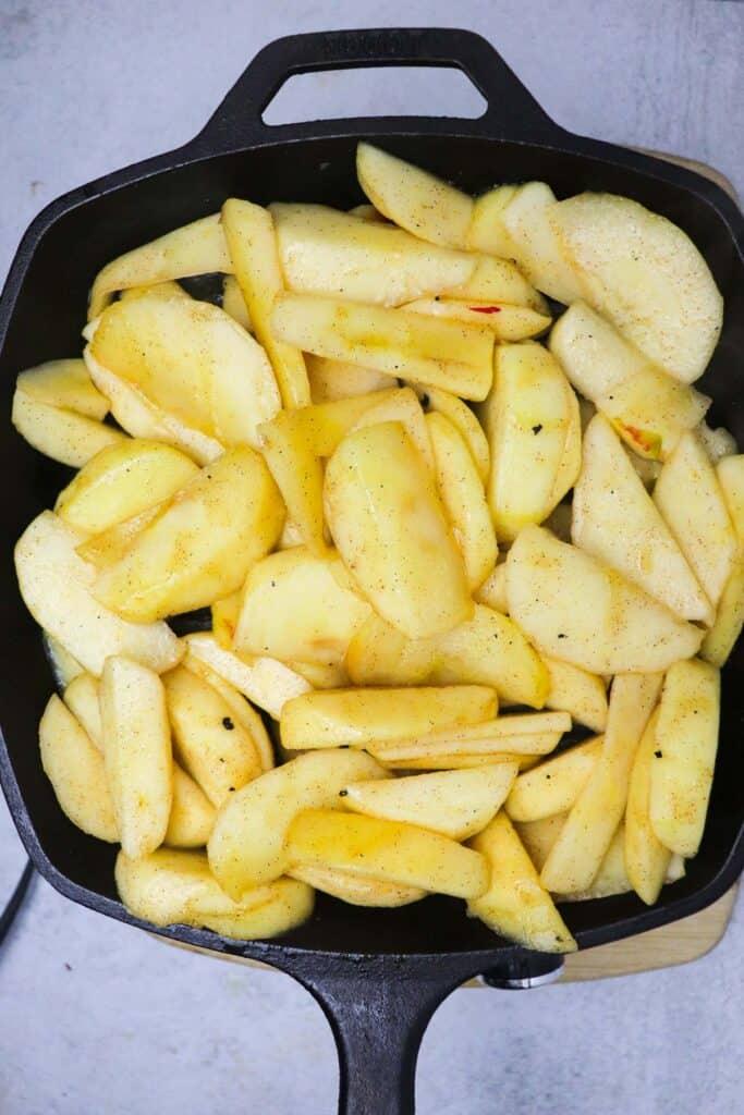 apples for uncooked skillet apple crisp