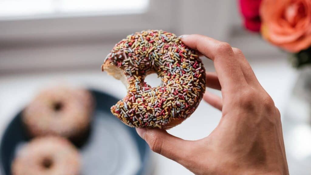 budget meal planning and buying donuts
