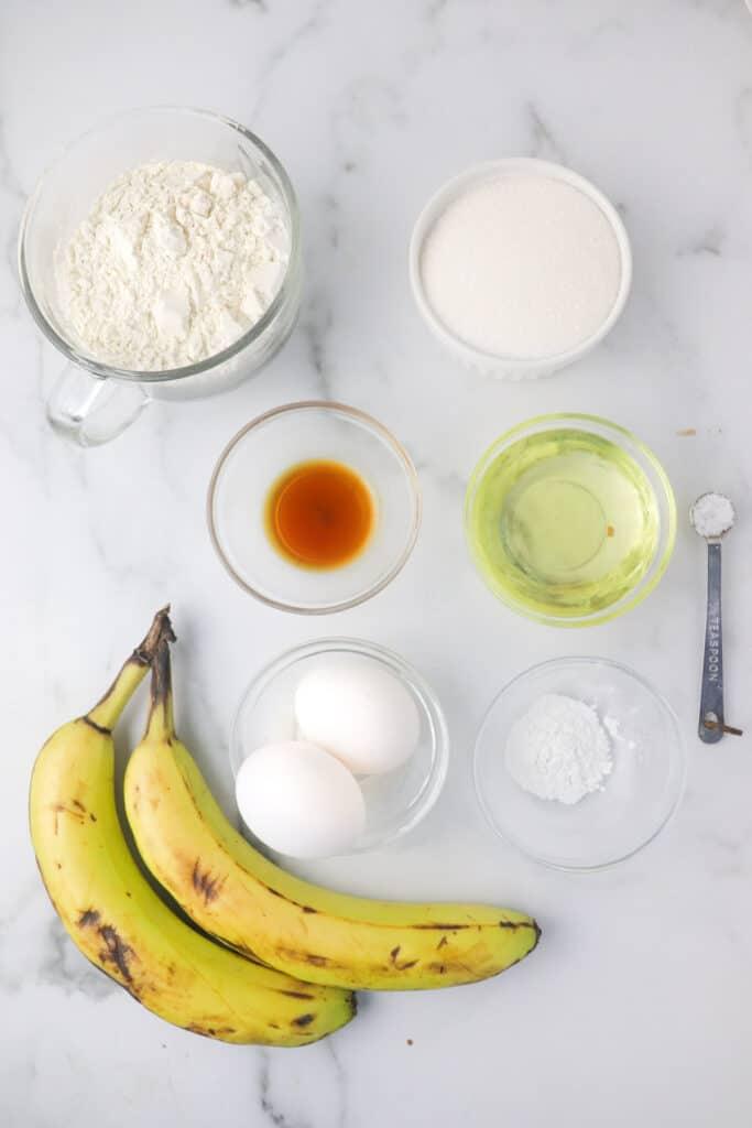 dairy free banana bread loaf ingredients