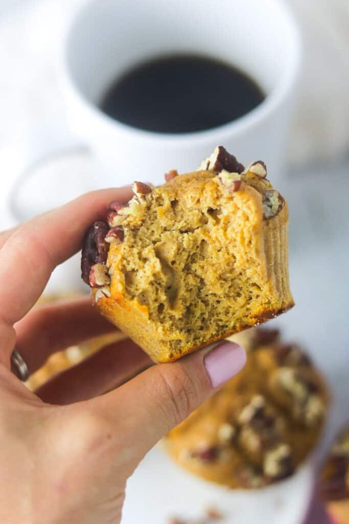 easy pumpkin protein muffins