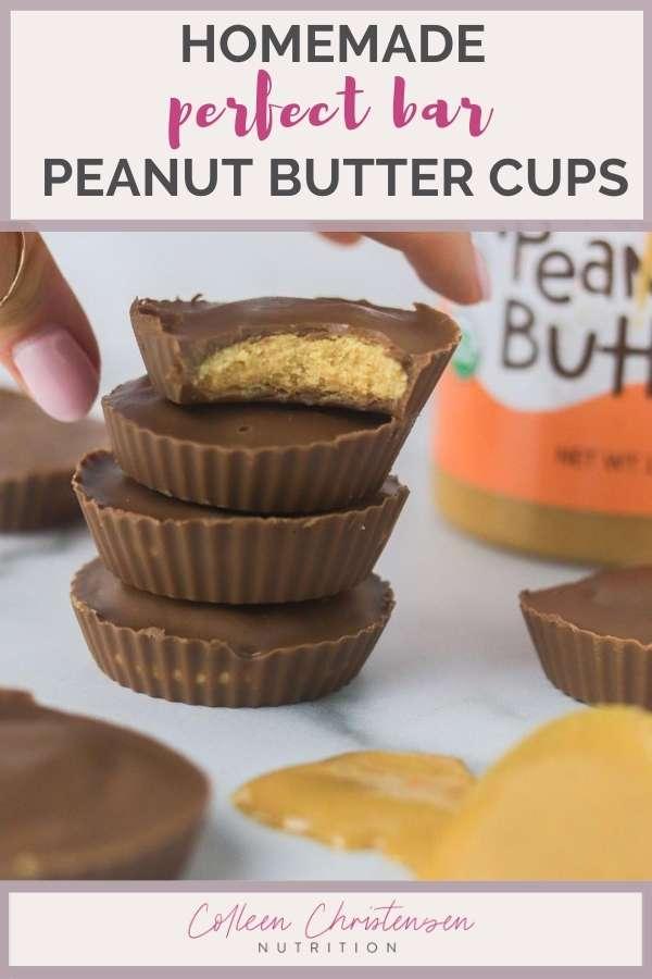 homemade perfect bar peanut butter cups