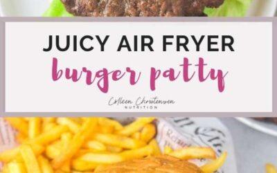 juicy air fryer burger patty